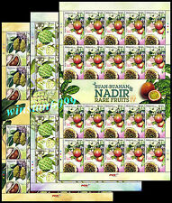 2013 Malaysia Rare Fruits Series IV 60v Stamps on 3 Full Sheetlets Mint NH