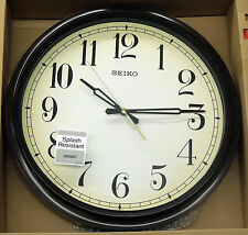 SEIKO SPLASH RESISTANT OUTDOOR CLOCK- 16INCH DIAMETER  QXA548BLH