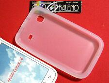 COVER SILICONE MORBIDO per SAMSUNG GALAXY S PLUS GT i9001 CUSTODIA TRASPARENTE