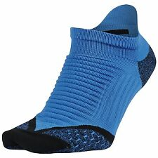 $34 NIKE Mens 1 PAIR PACK DRI-FIT ELITE RUN NO SHOW TAB SOCKS Blue SHOE 8-12