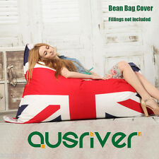 Bean Bag Cover Reading Relaxing Couch Chair Living Room Furniture England Flag