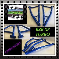 NEW! RZR XP TURBO, EXTREME CLEARANCE ARCHED CHROMOLY LOWER A-ARMS, VOODOO BLUE