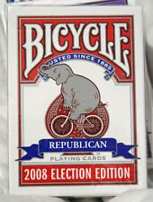 New Deck Bicycle Election Back Playing Cards Republican Elephant Bike 2008 Rare