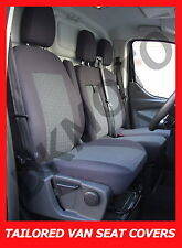 Tailored seat covers for Ford Transit Custom 2 + 1 grey1