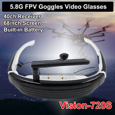 Vision-720S 5.8G 40CH FPV Racing Drone Goggles 3D Video Glasses for Racer 250