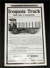 1906 OLD MAGAZINE PRINT AD, THE IROQUOIS 25 HP TRUCK, BUILT LIKE A LOCOMOTIVE!