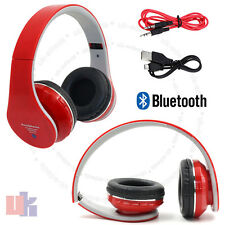 New Foldable Bluetooth Headset Stereo Super Bass Wireless Red  Headphone UKED