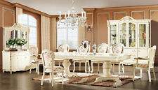 BRAND NEW VENICE WHITE DINING TABLE CHAIRS SET SUITE  8 CHAIRS + 2 ARMCHAIRS