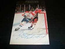 Peter Mahovlich Signed Vintage Autograph Canadiens Red Wings 3.5X5.5 Post Card C