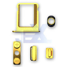 Gold Button & Sim Tray Set for iPhone 4S & 4 CDMA Volume/Power/Silent Switch