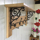 Vintage Style Coat Rack With Shelf Solid Oak Wood Country Barn Shell Hooks