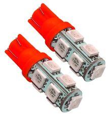 2x ampoule T10 W5W 12V 9LED SMD rouge veilleuses éclairage intérieur coffre