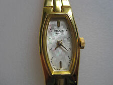 ladys gold plate  thin  pulsar watch braacelet