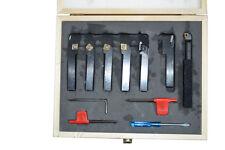 Drehstahl Set HM mit Wendeplatten 7-teilig 12 x 12 mm Drehmeißel Satz NEU 12x12