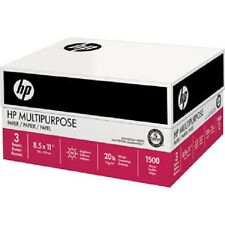 HP Multi Purpose Paper Letter Print Fax & Copy Paper 20lb  96 Bright 1500 sheets