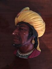 Unusual Vintage Bossons Plaque With Turban