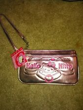 Sanrio Hello Kitty Pink Metallic Wristlet Purse -NEW!!