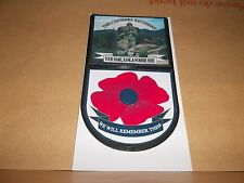 THE CHESHIRE REGIMENT (SLR) CAR WINDOW REMEMBERANCE STICKER.