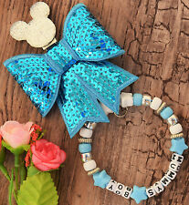 Personalised stunning pram charm in turquoise colour  gift bling diamond dum