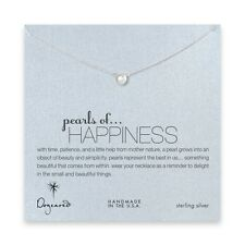 "Dogeared Sterling Silver Pearls Of Happiness Gift Boxed 16"" Necklace"