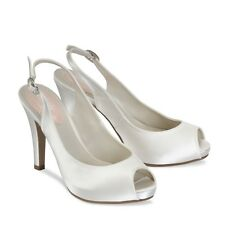 Pink Paradox wedding bridal shoe BARBIE Ivory Satin UK 4 (EU 37) BNIB  Dyeable