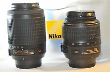Nikon DX AF-S Nikkor 18-55mm 55-200mm 2 VR lens SET for D7200 D3200 D5300 D3300