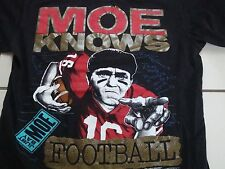 Vintage Moe Knows Football Sports The 3 Three Stooges TV Show  T Shirt M
