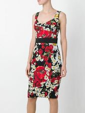 Dolce & Gabbana Poppy & Daisy Brocade Pencil Dress New BNWT UK 10 IT 42