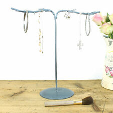 Vintage Jewellery Hanger Holder Stand Rustic Metal Necklace Earrings Bracelet