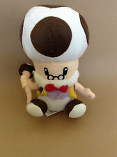 Super Mario Bros Plush Old Man Toad Toadsworth 10in Video Game Soft Doll TOY