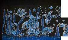 Sarong/Pareo/Wrap - SEA TURTLES - handpainted batik from Bali - Hary Dary