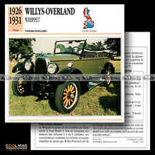 #017.13 WILLYS-OVERLAND WHIPPET (1926-1931) - Fiche Auto Classic Car card
