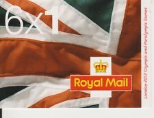 GB QEII BARCODE BOOKLET MB10 2012 OLYMPIC 'KEY DATES' 6 X 1ST CLASS 10% OFF 5+