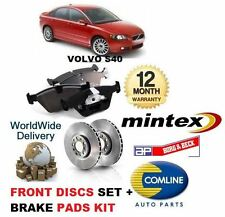 FOR VOLVO S40 2.0D 2.0 D3 2.0 D4 2.4 2.5 T5 2004-- ON FRONT DISCS + PADS SET KIT