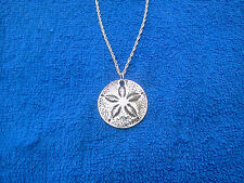 Lucky Piece Item OCEAN SEA JEWELRY 1 PEWTER SAND DOLLAR NECKLACE  NEW