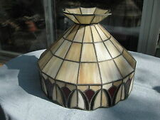 Vintage Stained Glass Tiffany Style Tulip Hanging Swag Lamp Light Fixture