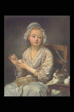 358022 The Wool Winder John Baptiste Greuze A4 Photo Print