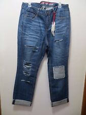 Standards & Practices Destroyed X-Boyfriend Patched Jeans Size 16 Low Rise