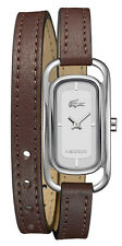 Lacoste Sienna Stainless Steel Womens Fashion Watch Brown Strap 2000727