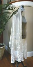Antique Handmade Honiton Lace Veil/Stole