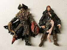 2 PIRATES OF THE CARIBBEAN TOY ACTION FIGURES JACK SPARROW DAVY JONES MONSTER