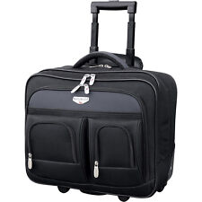 "Travelers Club Luggage 17"" 2-Section Rolling Laptop Wheeled Business Case NEW"