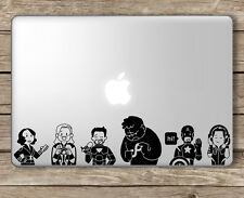 Avengers with Technology Superhero - Apple Macbook Laptop Vinyl Sticker Decal