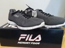NEW Men's Fila Memory Refractive Memory Foam GREY Running Athletic Shoes size 13