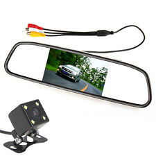 "420TVL Night Vision Reverse Camera + 4.3"" TFT LCD Mirror Car Rear View Monitor"