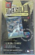 1995 Topps Baseball Dimension 3 unopened box - 24 sealed packs 3D Cards