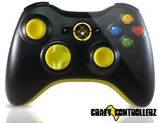 Xbox 360 Modded Controller Rapid Fire DropShot QuickScope Mod Black Ops 2 Yellow