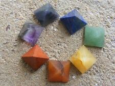 Set of 7 mini pyramid chakra stones ~rainbow,chakra,energy,meditation,spiritual