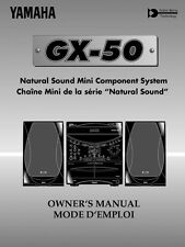 Yamaha GX-500 Component System Owners Manual