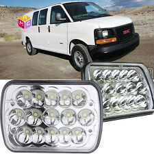 Pair Sealed Beam square LED Headlights Lamp for GMC Savana 3500 Yukon  Sonoma